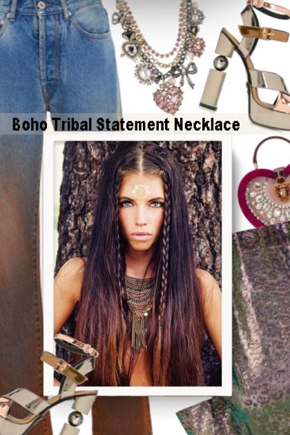 Boho Tribal Statement Necklace