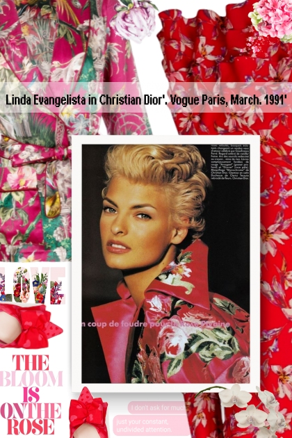 Linda Evangelista in Christian Dior'. Vogue Paris,