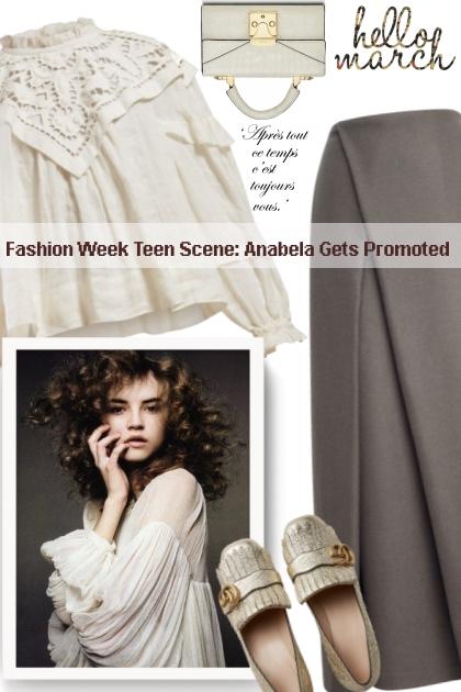 Fashion Week Teen Scene: Anabela Gets Promoted