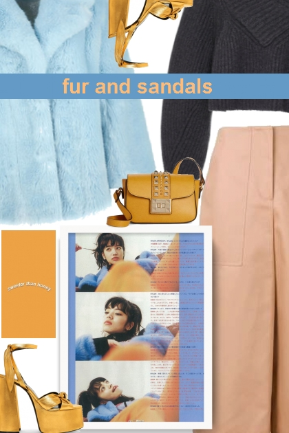 fur and sandals