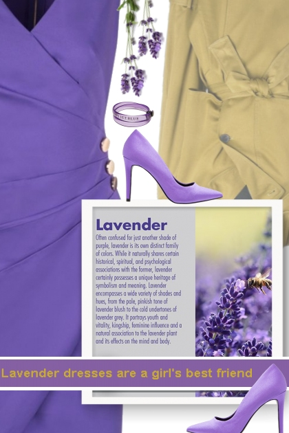 Lavender dresses are a girl's best friend