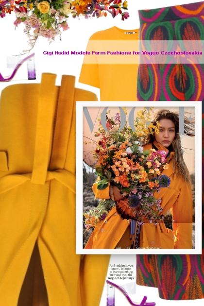Gigi Hadid Models Farm Fashions for Vogue Czechosl