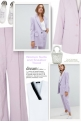 Women  Lilac Suits and Sneaker Trend