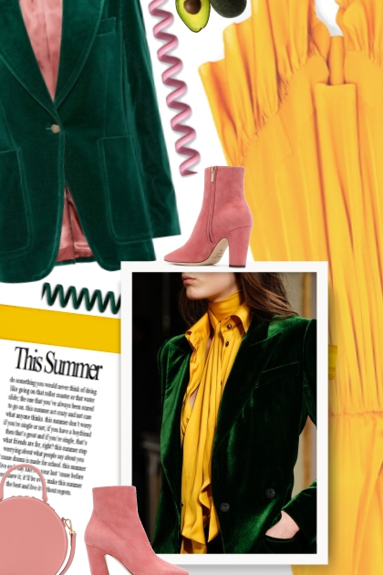 Green, Yellow and Pink- Kreacja
