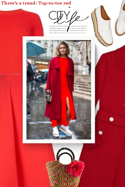Three's a trend: Top-to-toe red