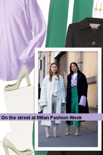 On the street at Milan Fashion Week