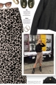 How To Style Oversized Sweater With A Leopard Sk