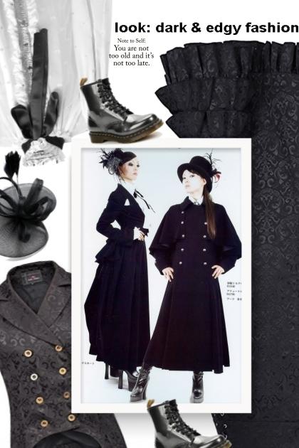 look: dark & edgy fashion