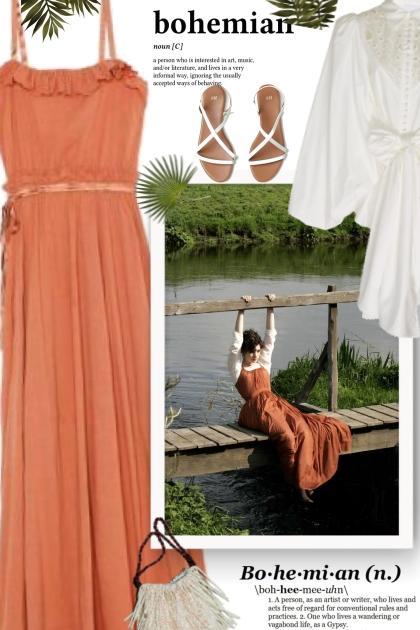 Hippie Style Maxi Dress