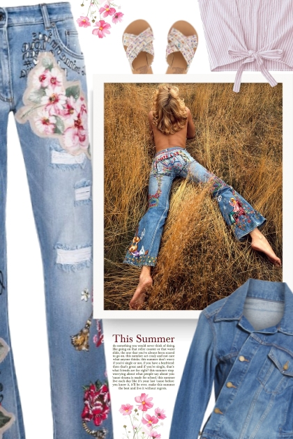 Embroidered Denim Is the New Monogram