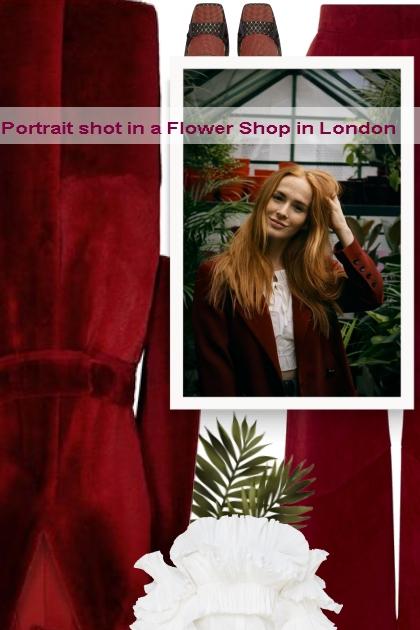 Portrait shot in a Flower Shop in London