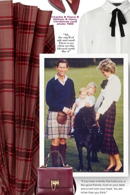 Charles & Diana & William & Harry. Christmas card