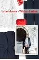Lace blouse - White - Ladies