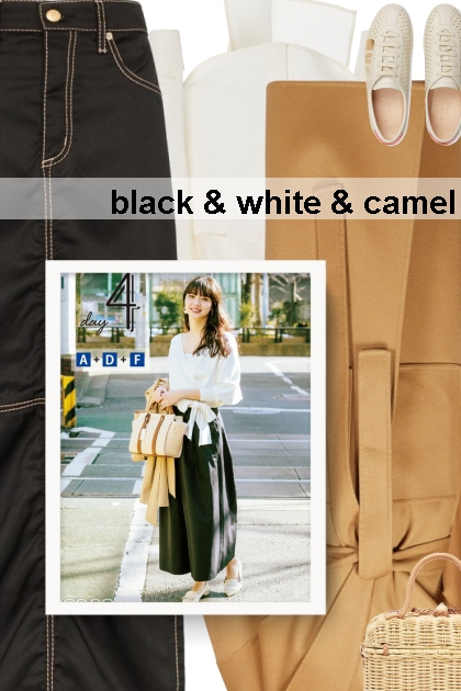 black & white & camel