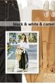 black & white & camel