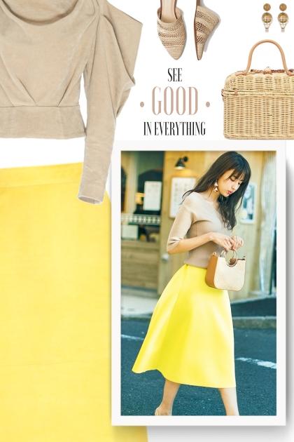street style - yellow & beige