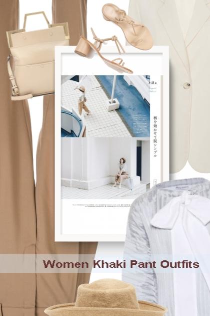 Women Khaki Pant Outfits