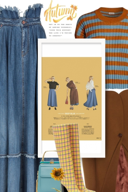 Jean Skirt Outfits: What to Wear With a Denim Skir