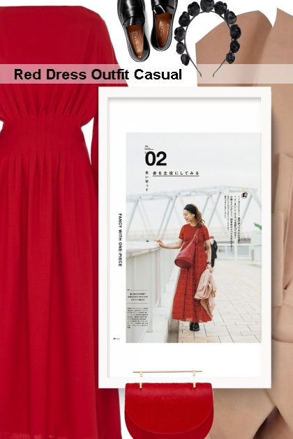 Red Dress Outfit Casual