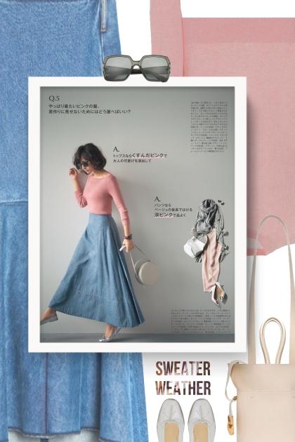 Denim Skirts | Long Denim Skirt
