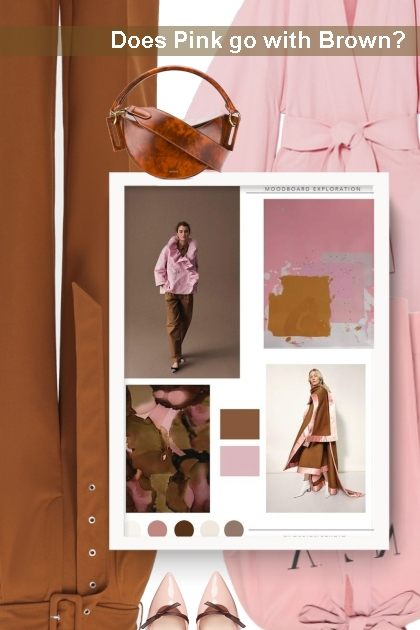 Does Pink go with Brown?