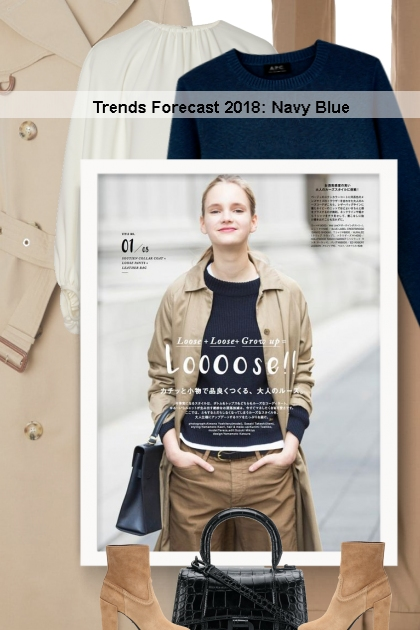 Trends Forecast 2018: Navy Blue- Fashion set