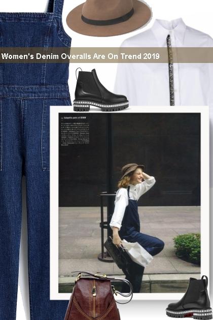 Women's Denim Overalls Are On Trend 2019
