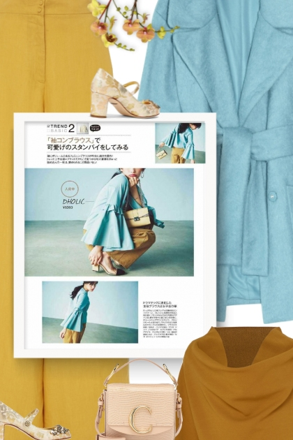 How to Wear a Light Blue Coat For Women