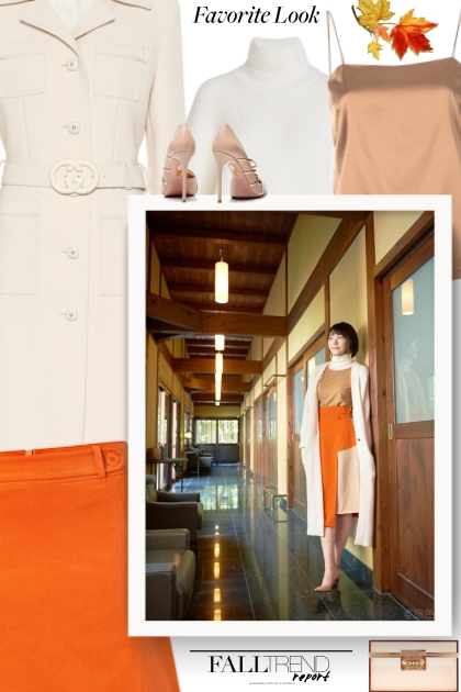 Orange Skirt Outfits
