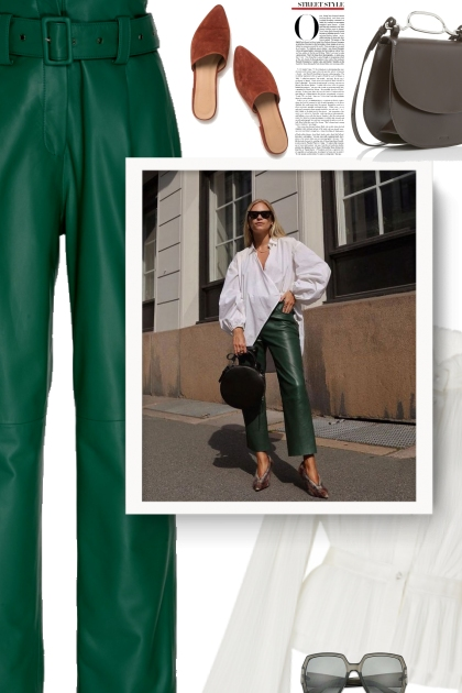 How to Wear Leather Pants Like a Fashion Girl