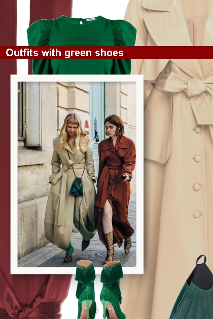 Outfits with green shoes