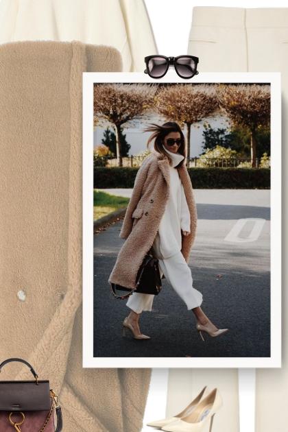 Oversized fur coat