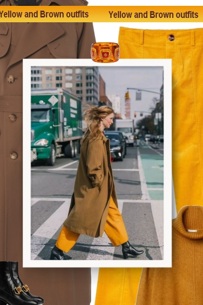 Yellow and Brown outfits