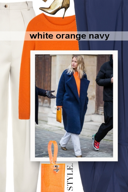 white orange navy
