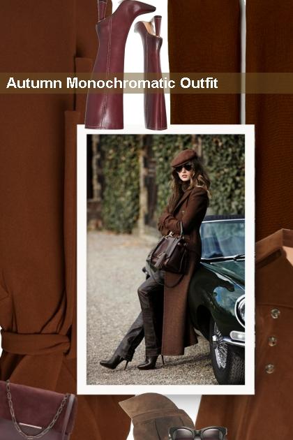 Autumn Monochromatic Outfit- Modna kombinacija