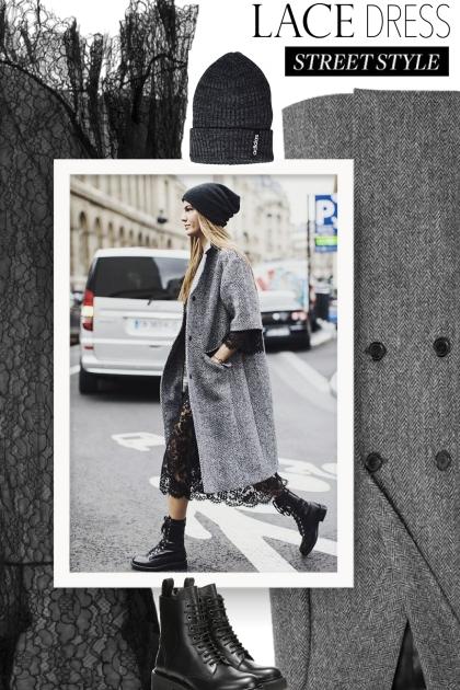 Fall 2019 - black  lace dress
