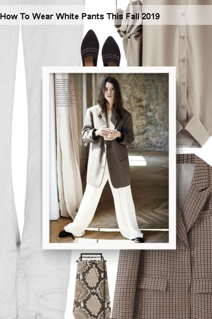 How To Wear White Pants This Fall 2019