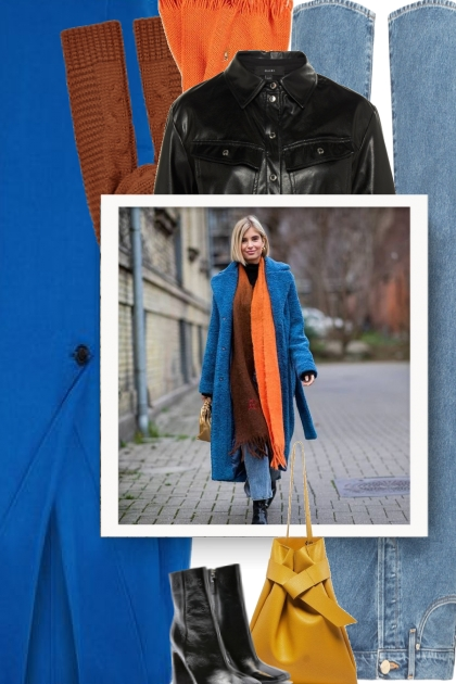Outfit with Blue Coat