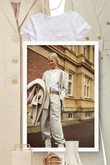 - Pair your white t-shirt with ...