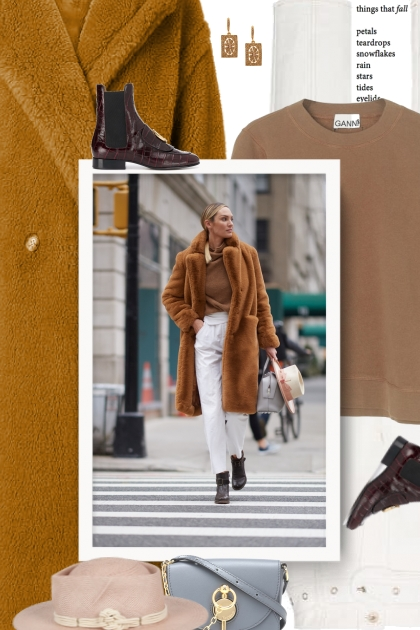 Fur coat and hat