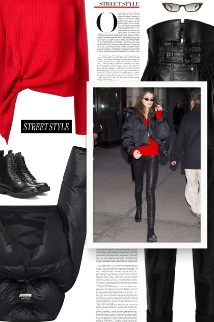 GIVENCHY black cropped puffer coat