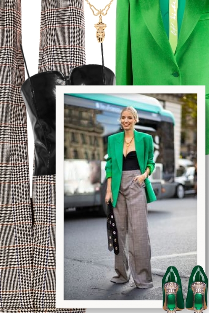 What goes with a green blazer?