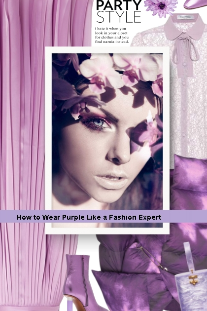 Party - How to Wear Purple Like a Fashion Expert