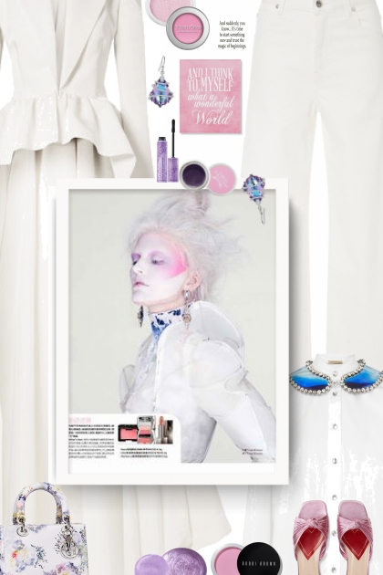 BUSINESS PARTY - white, pink and purple- Fashion set