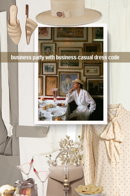 business party with business-casual dress code