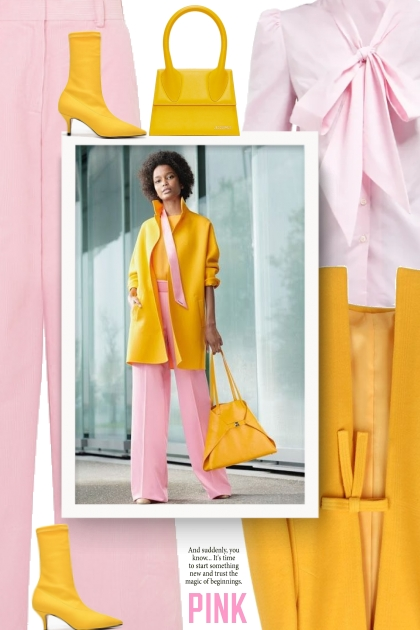 Business party  - pink and yellow- Fashion set