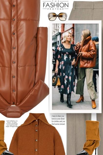 MATÉRIEL leather puffer coat