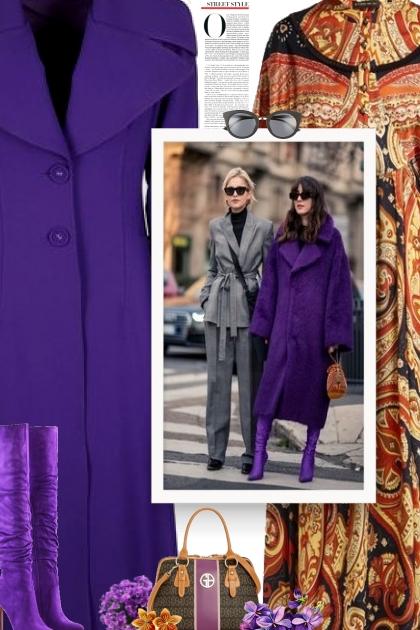 Purple coat style