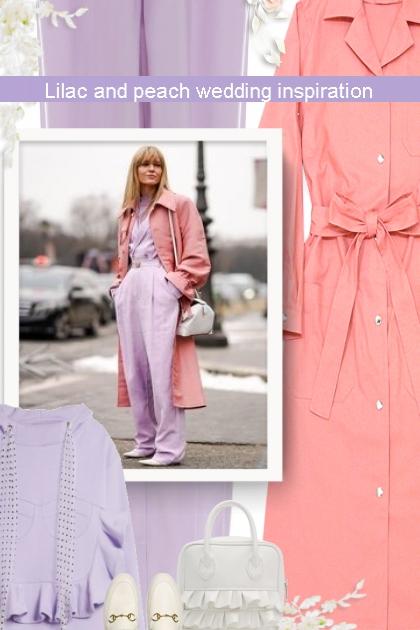 Lilac and peach wedding inspiration