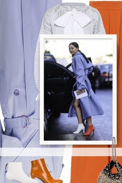 The fashion-forward lilac coat